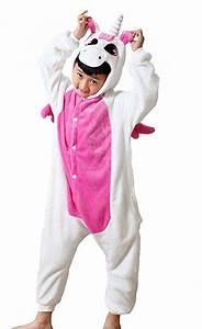 Einhorn Kostüm Mädchen : kinder einhorn kost me flanell jumpsuit jungen m dchen tieranz ge pyjama overall onesie ~ Frokenaadalensverden.com Haus und Dekorationen