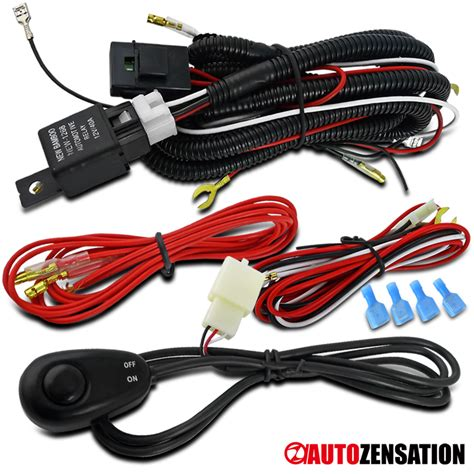 Led Fog Light Driving Lamp Wire Harness Kit Wiring