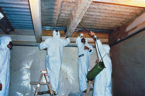 spray applied fireproofing asbestos abatement demonstratio