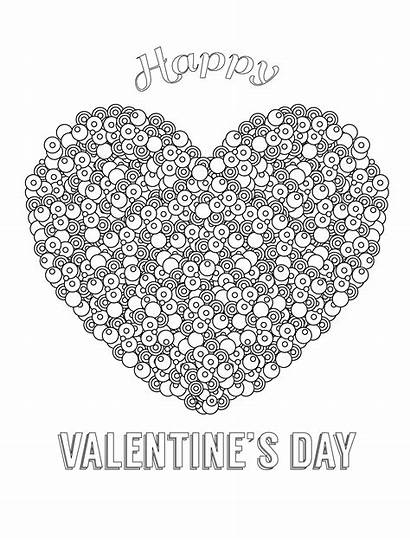 Coloring Valentines Pages Adults Happy