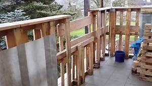 Holz Für Balkongeländer : balkongel nder aus holz paletten youtube ~ Lizthompson.info Haus und Dekorationen
