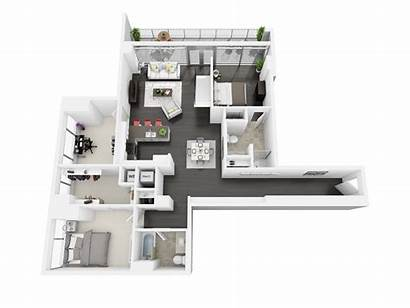 Bedroom Floor Plans Angeles Los Downtown Apartments