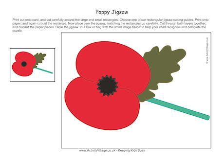 poppy printable jigsaw