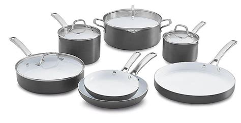 Calphalon Kitchen Essentials Non Stick Cookware by The Best Ceramic Cookware Sets In 2019 Kitchen Cooking