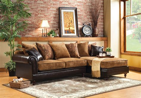 Formal Couches by Furniture Of America Two Tone Formal Sectional