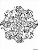 Mandala Coloring Flower Pages Printable Fargelegge Mandalas Bilde Drawing Kleurplaat Nacht Natt Floral Fargelegging Coloringpagesonly Categories sketch template