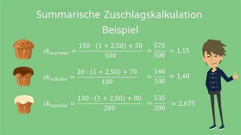 zuschlagskalkulation einfach erklaert fuer dein bwl studium
