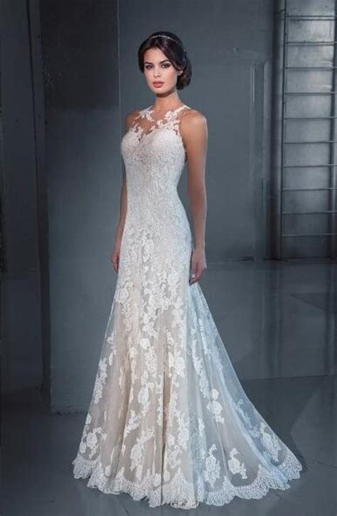 designer mermaid  wedding dresses lace cheap sheer