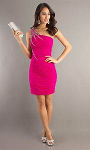 Hot Pink Cocktail Dress - Pjbb Gown