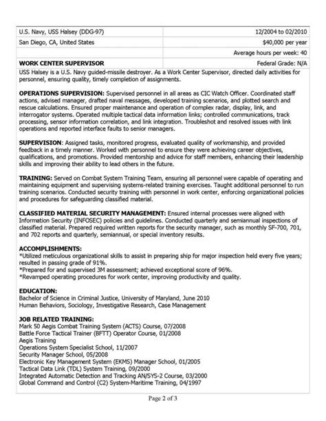 Federal Resume Sles by Resume Ksa Exles Resumes Resume Template