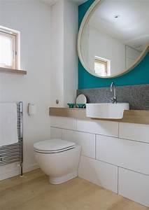 Runder Spiegel Holz : g stebad runder spiegel holz wei petrol badezimmer pinterest spiegel holz runde ~ Indierocktalk.com Haus und Dekorationen
