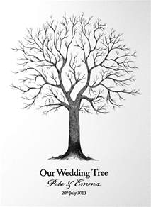 fall wedding guest book wedding tree illustration