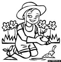 gardening coloring page free gardening coloring