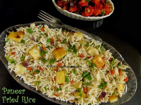 paneer fried rice step  step pictures nithyas nalabagam