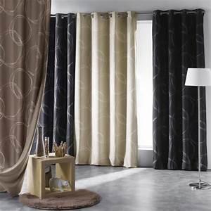 Rideau Occultant Gifi : rideau thermique et isolant phonique norway noir achat ~ Melissatoandfro.com Idées de Décoration