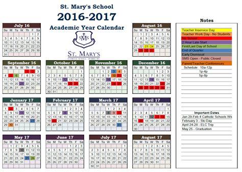 2016 2017 School Year Calendar