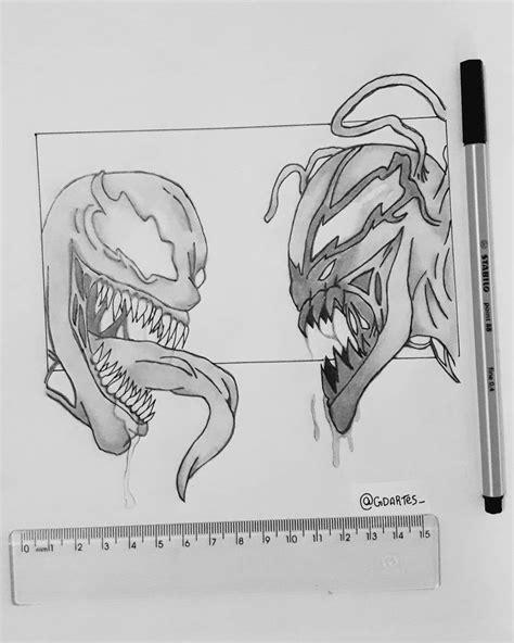 Venom E Carnificina Desenhos Detalhados Arte Desenhos