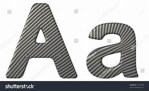 carbon fiber font a lowercase and capital letters isolated With carbon fiber letters