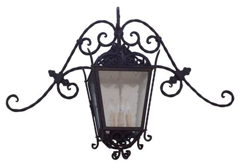 wrought iron lanterns are effective inside and
