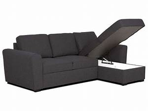 Conforama Canapé D Angle Convertible : canap d 39 angle r versible 4 places en tissu canape salon ~ Nature-et-papiers.com Idées de Décoration
