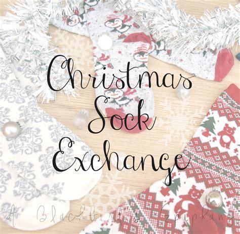 sock gift exchange sock exchange 2015 a blackbird s epiphany uk s fitness and writing