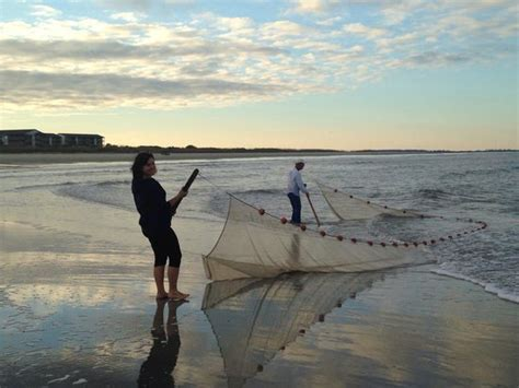 Pulling Our Catch Picture Tybee Beach Ecology