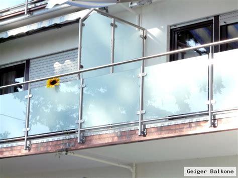 Geigerbalkone Meisterbetrieb Glasverkleidungen