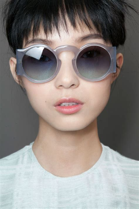 Asian Woman Sunglasses Model
