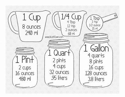 Kitchen Conversion Measurement Chart