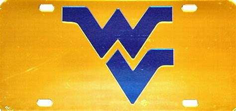 west virginia mountaineers wv gold mirror laser cut