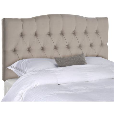 roma tufted wingback headboard taupe fullqueen safavieh axel taupe tufted headboard