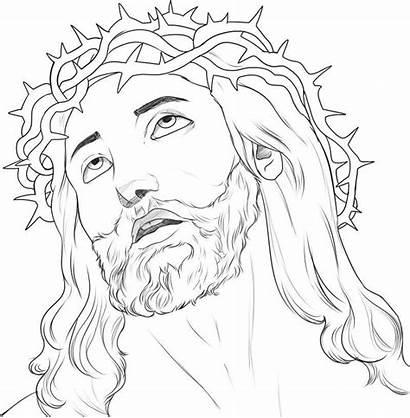 Jesus Face Crucificado Colorir Desenho Tudodesenhos Imprimir