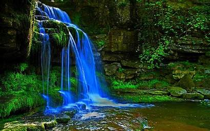 Waterfall 3d Waterfalls Wallpapers Beauty Forest Nature