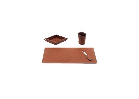 set de bureau cuir set de bureau 4 pièces ascanio en cuir régénéré