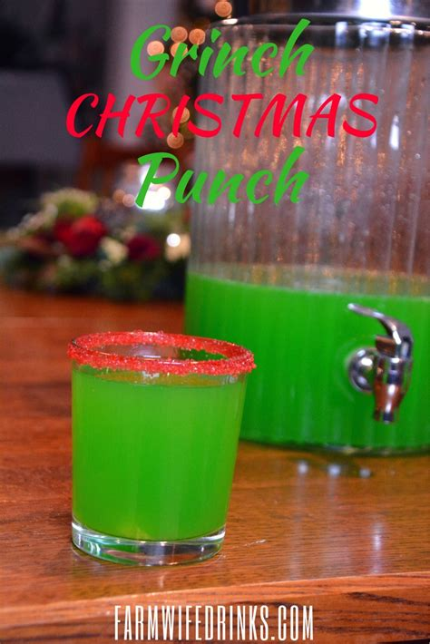 holiday drinks for adults grinch punch green punch the farmwife drinks