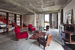 Sejour Style Industriel : petite maison originale au design clectique situ e dans la plus grande ville vietnamienne ~ Teatrodelosmanantiales.com Idées de Décoration