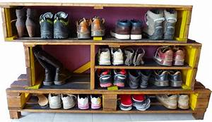 Casier A Chaussure : mod le meuble chaussures palette activit s manuelles ~ Nature-et-papiers.com Idées de Décoration