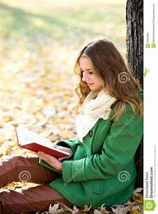 Girl Reading Book Outdoors Royalty Free Stock Photography ...