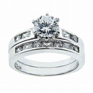 sterling silver cubic zirconia wedding ring sets With cubic zirconia wedding ring sets