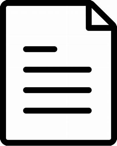 Icon Document Paper Word Thin Svg Onlinewebfonts