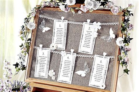 How To Make A Vintage Wedding Seating Chart