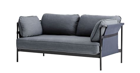 canapé 120 cm can sofa 2 seaters l 172 cm grey blue black