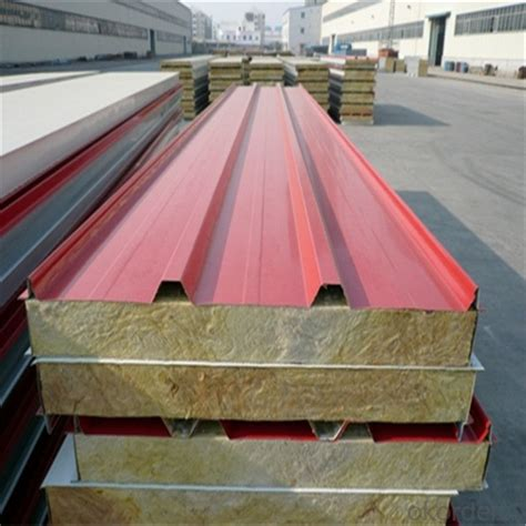 buy rock wool sandwich panels   cost wall cladding  roof  prefabricated house price