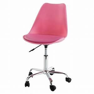 Chaise à Roulettes : chaise de bureau roulettes rose bristol maisons du monde ~ Teatrodelosmanantiales.com Idées de Décoration