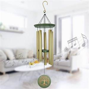Large, Wind, Chimes, Outdoor, Amazing, Grace, Tuned, Deep, Tone