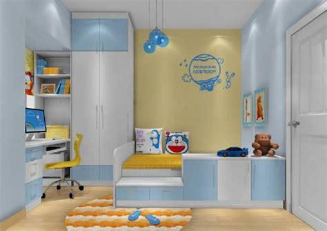 joyful kids room design ideas  blue yellow tones