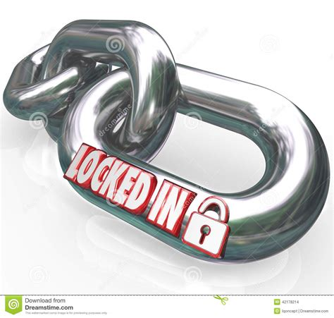 Locked In Words Chain Links Commitment Contractual