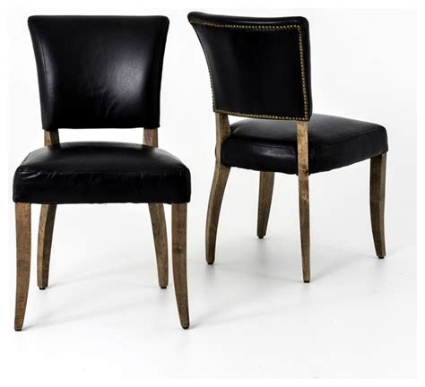 mimi dining chair saddle black weathered oak