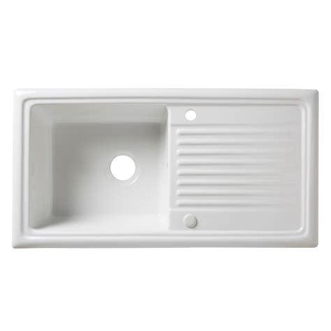 cooke and lewis kitchen sinks cooke lewis burbank 1 bowl white ceramic sink drainer 8328