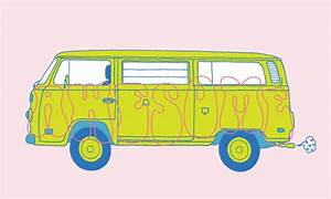 Working with Client Changes While Illustrating a Hippie Bus